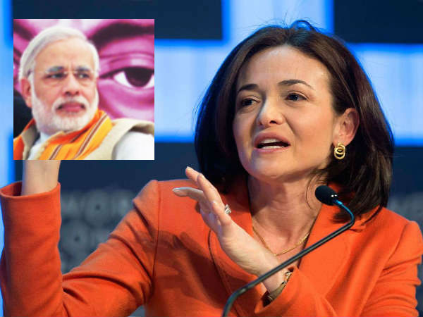 Facebook Coo Sheryl Sandberg Disclose Her Favourite Narendra Modi Fb Post
