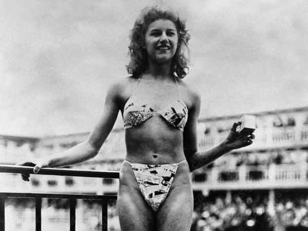 First Time The World Louis Reard Designed Bikini Wore By Micheline Bernardini