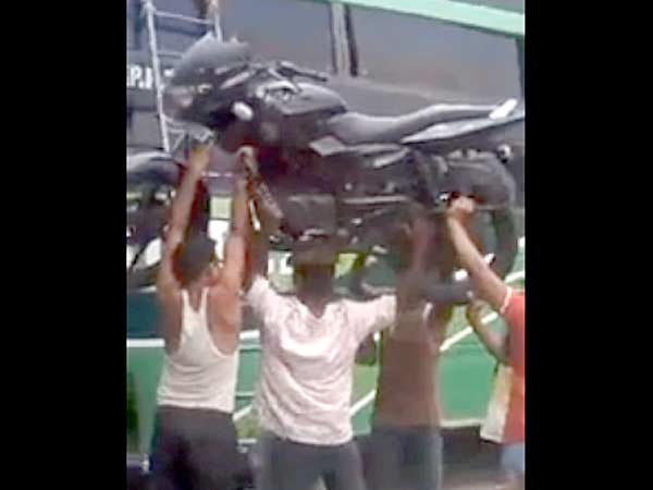 Indian Superman Carries Pulsar Over His Head