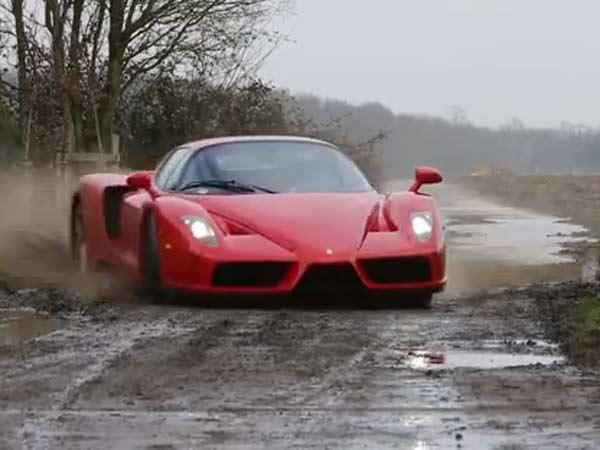 Ferrari Enzo Goes Off Roading
