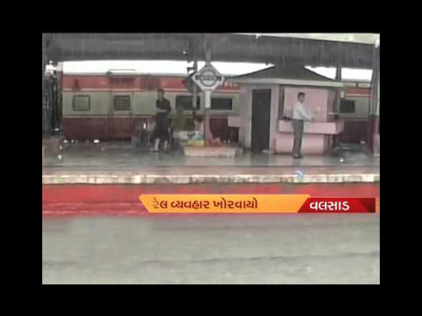 Heavy Rain In South Gujarat Ahmedabad Mumbai Trains Running Late Schedule