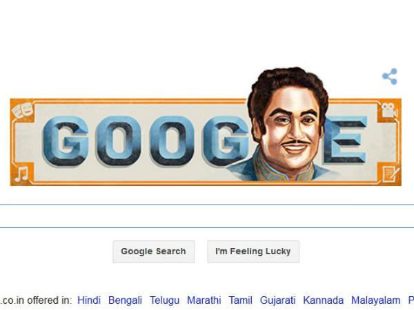 Google Creates Doodle Kishore Kumar