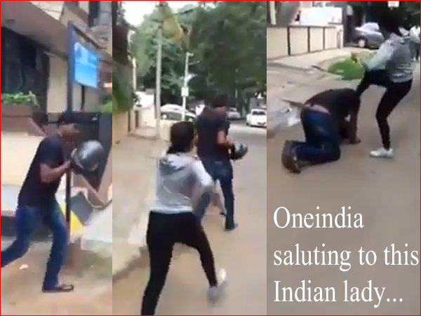 Video Saluting This Brave Indian Lady Who Taught Lesson Molesters