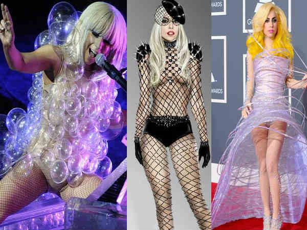 Lady Gaga Nude Bizarre Look Photos Weird Outfits