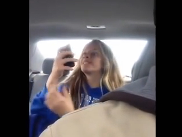 Watch Teen S Manic Selfie Session As Filmed Dad