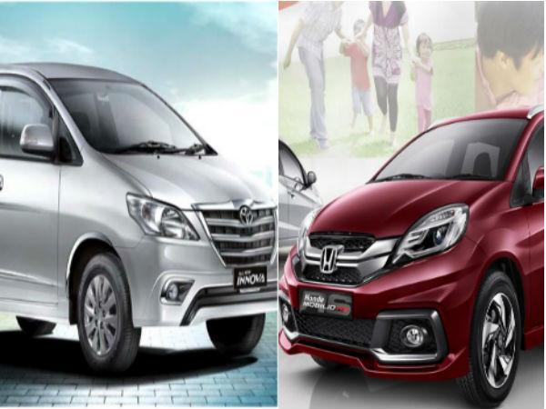 Car Comparision Honda Mobilio Rs O Vs Toyota Innova Zx