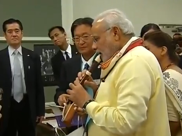 Pm Modi Interacting With Students Tokyo