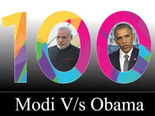 મોદી અને ઓબામાના પહેલાં 100 દિવસમાં છે 10 સમાનતા