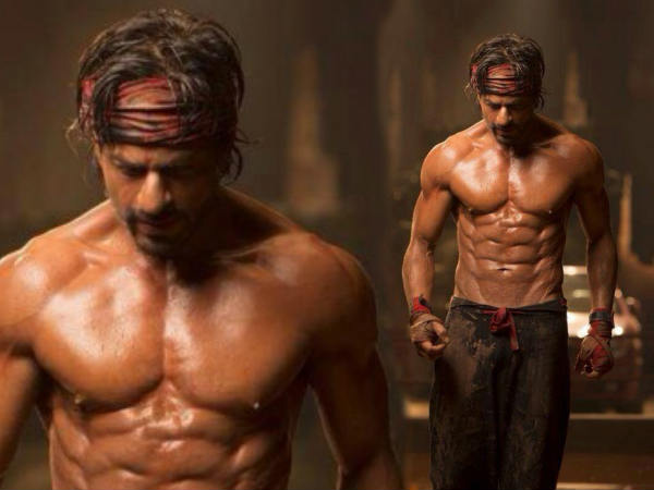 Omg Shahrukh Khan Flaunts His Eight Pack Abs
