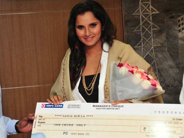Telangana Govt Gives Rs 1 Cr Sania Mirza Us Open Win