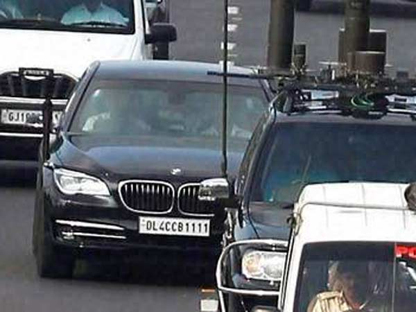 Pm Modi His High Sercurty Car Bmw 760li