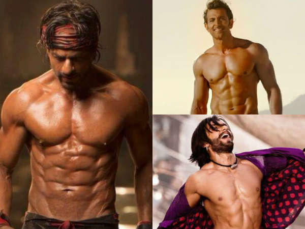 Shahrukh Khan And Some Other Hot Actors With 6 Pac Abs