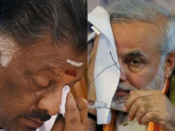 Narendra Modi And O Panneerselvam Between Similarity