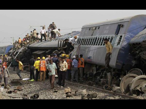 Two Trains Collide Near Gorakhpur Many Feared Dead