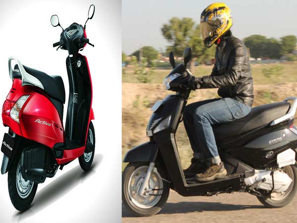 Scooter Comparisons Honda Activa Vs Mahindra Gusto Vs Tvs Jupiter