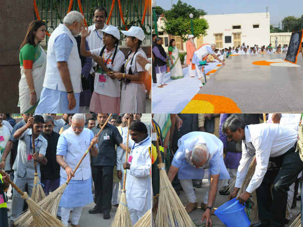 Pm Modi Starts The Clean India Campaign Nationalwide