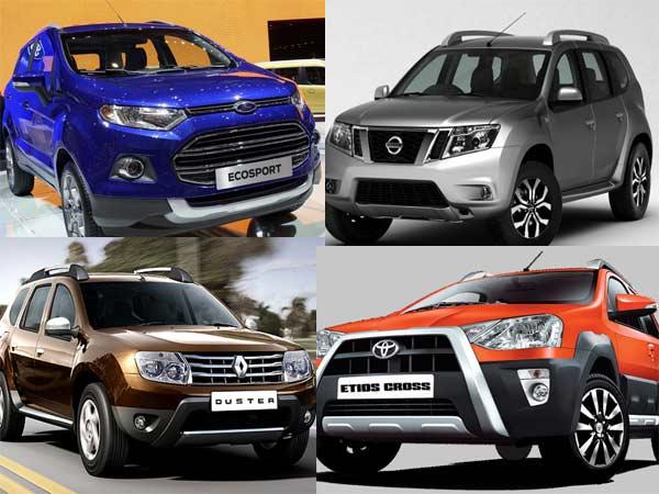 Car Comparision Between Ecosport Vs Terrano Vs Duster Vs Etios Cross