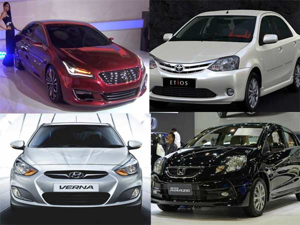 Comparison Between Toyota Etios Vs Maruti Ciaz Vs Hyundai Verna Vs Honda Amaze