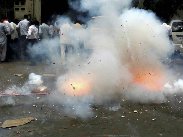 Massive Fire In Faridabad Cracker Market Over 200 Shops Destroyed