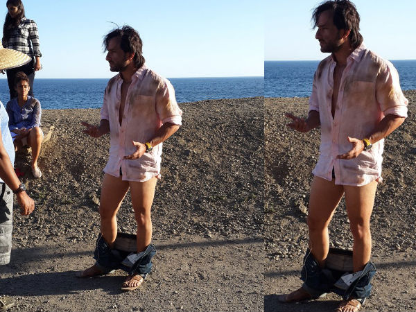 Saif Ali Khan Caught With His Pants Down
