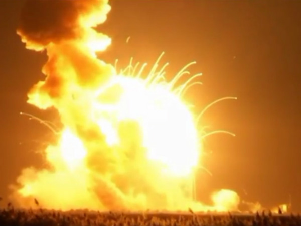 Nasa Rocket Explodes On Launch Pad