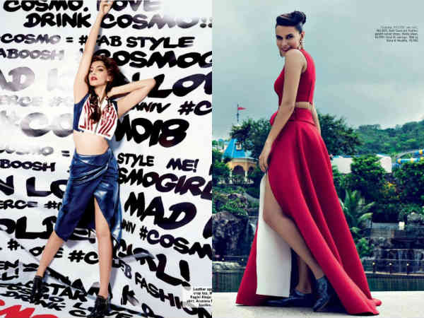 Sonam Kapoor Neha Dhupia Done Photoshoot Cosmopolitan Magazine