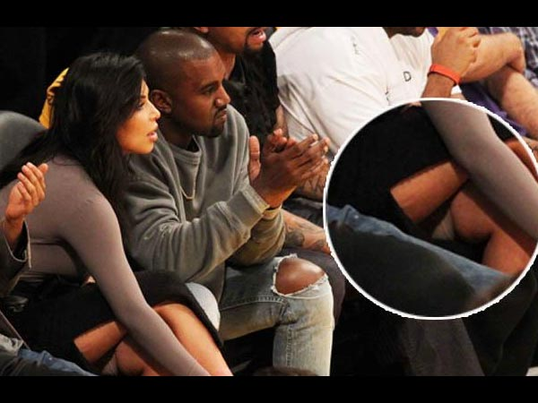 Kim Kardashian Flashes Her Shapewear At Basketball Game