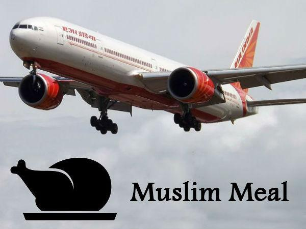 Air India Can Remove Muslim Meals From Food Menu