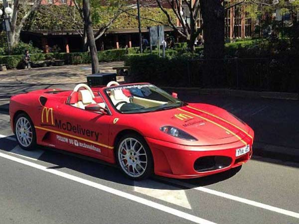 Mc Donalds In Australia Use Ferraris And Lamborghinis To Deliver Burgers