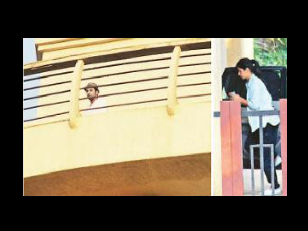 Spotted Ranbir Katrina Together At New House