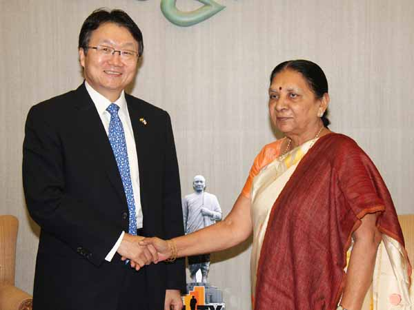 A Delegation From Korea Today Meet Gujarat Cm
