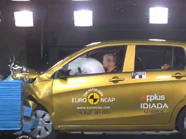 Suzuki Celerio Secures 3 Star Rating Euro Ncap Test