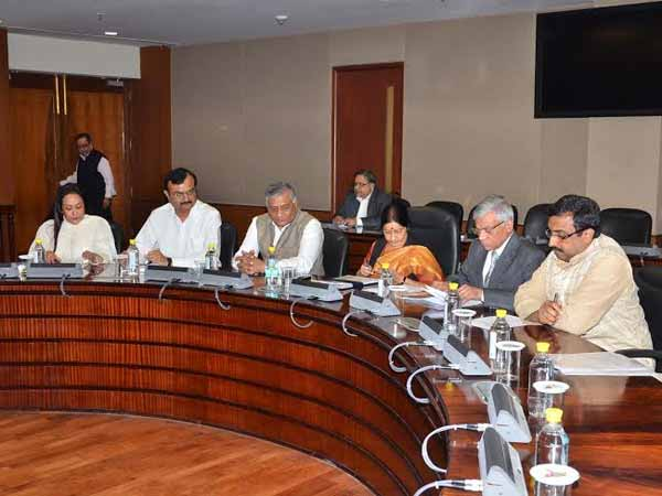 Review-meeting-on-Pravasi-Bharatiya-Divas-2015