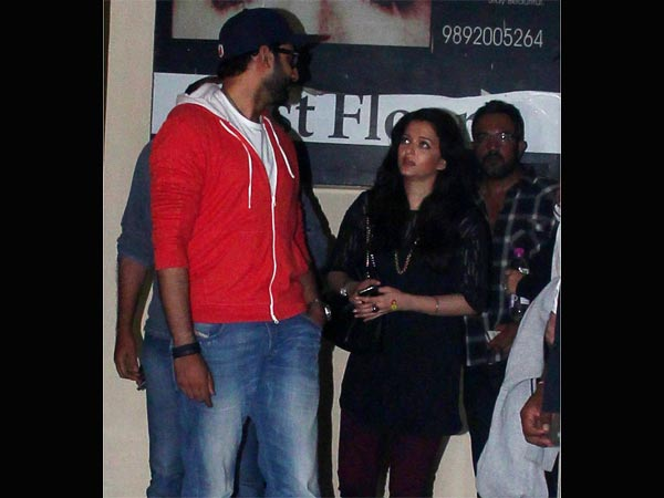 Aishwarya Rai Bachchan Abhishek Spotted Movie Date