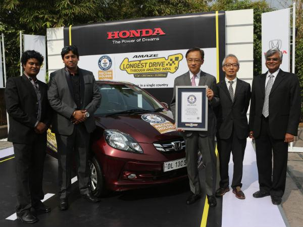 Honda Amaze Drives Into Guinness World Records