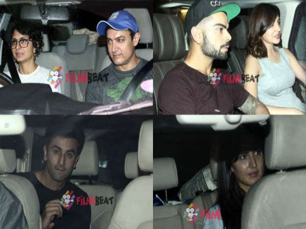 Bollywood Love Birds Ranbir Katrina Virat Anushka At Karan Johar S House