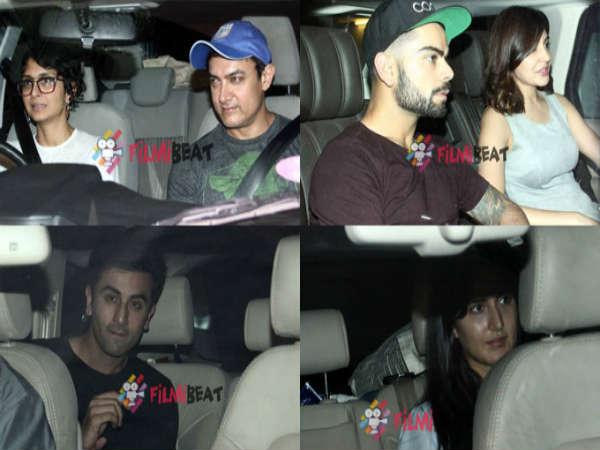 Bollywood Love Birds Ranbir Katrina Virat Anushka At Karan Johar S House