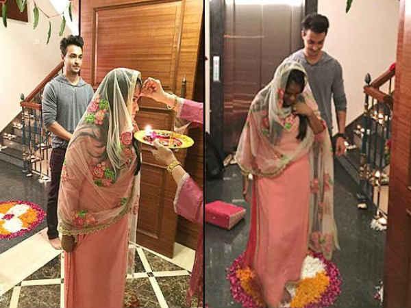 Arpita Khan Aayush Sharma Surprise Salman Khan At Bigg Boss Shoot
