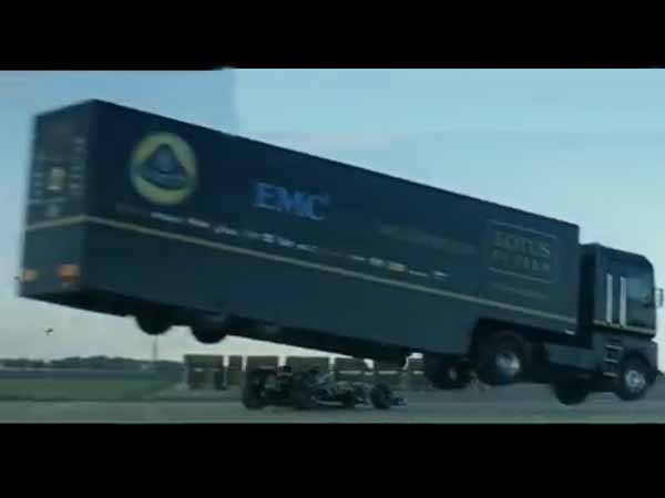Truck S World Record Jump Over Lotus F1 Car