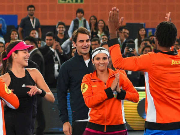Photo Sania Mirza Emotional Dance After Wins Doubles With Roger Federar