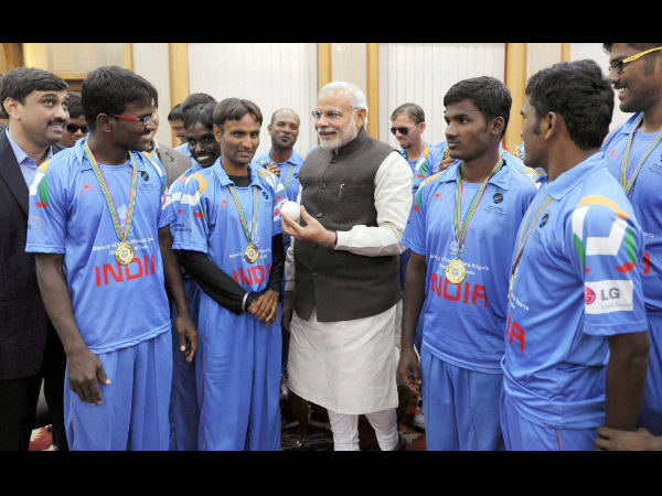 Pm Congratulates Blind Cricket World Cup Winning Indian Team