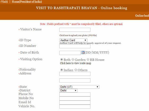 How Book Visit Rashtrapati Bhavan Online