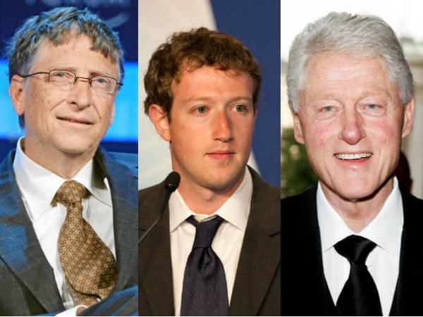 Bill Gates Bill Clinton And Mark Zuckerberg In Gujarat Vibrant Summit