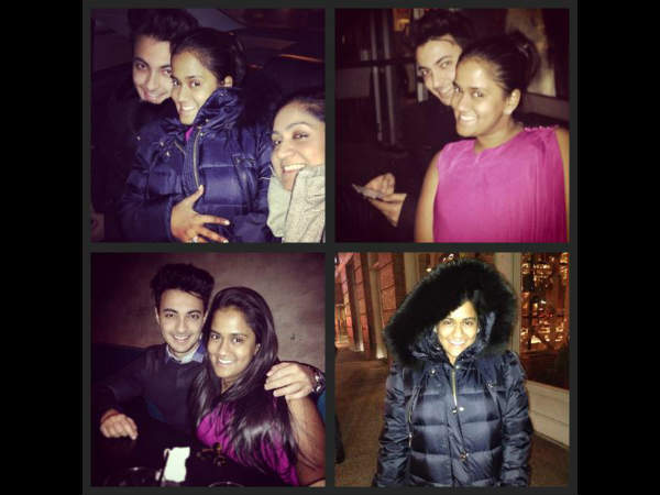 Arpita Khan Aayush Sharma Adorable Photos From New York Honemoon
