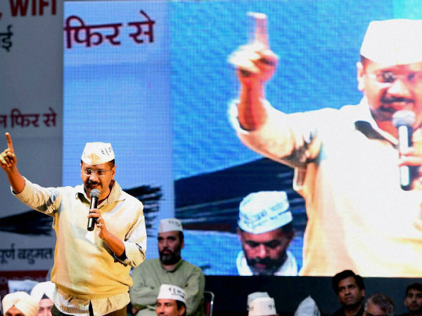 Stone Hurled At Arvind Kejriwal At Public Meeting