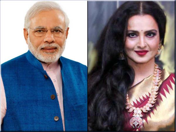 Pm Narendra Modi Rekha Crowned Hottest Vegetarians Peta