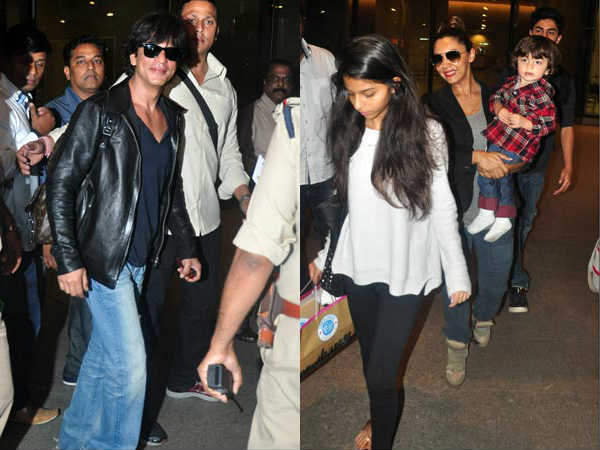Shahrukh Khan Returned Mumbai After Celebrating New Year At Dubai