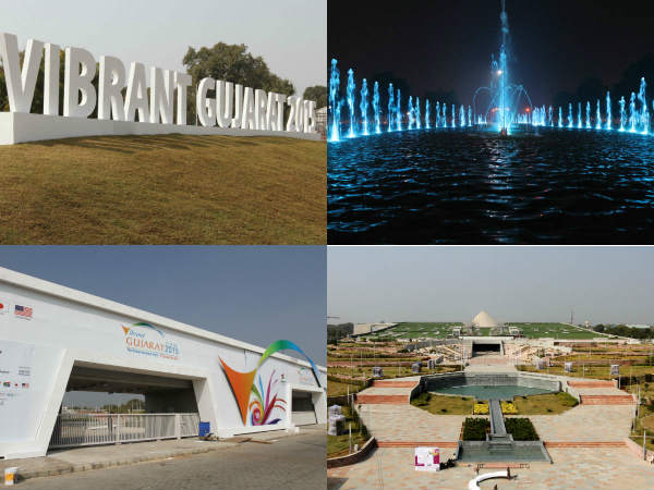 See In Picture Fountains Lights At Mahatma Mandir