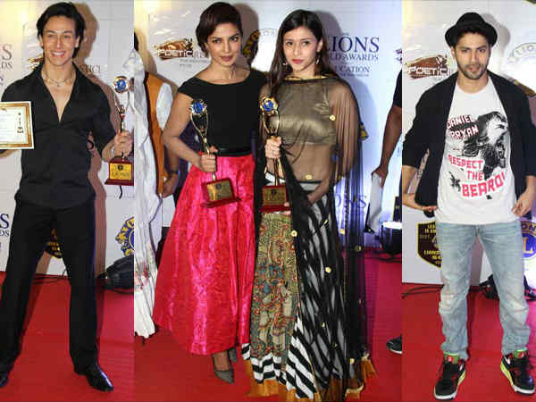 Priyanka Chopra Varun Dhawan Bollywood Celebrities Lions Gold Awards