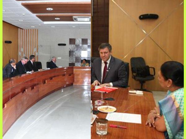 Poland Australian Ministers Met Gujarat Cm Anandiben Patel Ahead Vibrant Gujarat